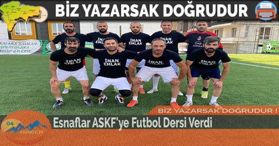 Esnaflar ASKF'ye Futbol Dersi Verdi