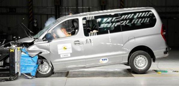Euro NCAP minibüsleri çarpıştırdı