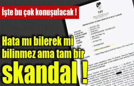 F.Bahçe'de skandal !