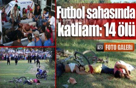 Futbol sahasında katliam!