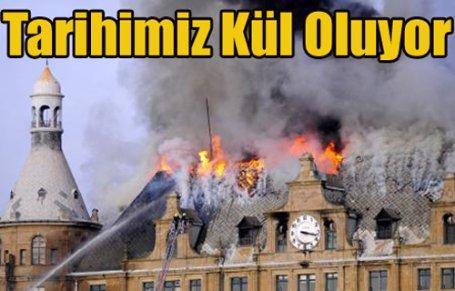 Haydarpaşa Garı'nda büyük yangın çıktı !