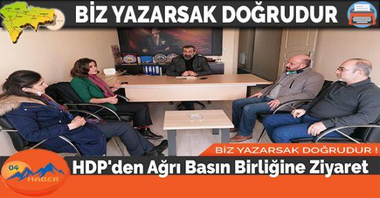 HDP'den Ağrı Basın Birliğine Ziyaret