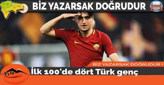 İlk 100'de dört Türk genç