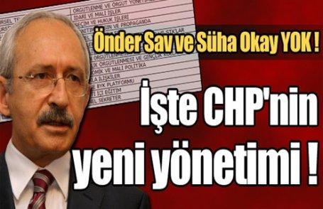 İşte CHP'nin yeni yönetimi