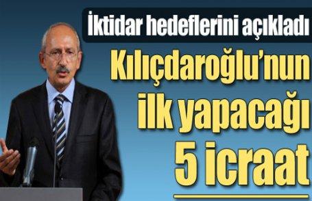 İşte Kılıçdaroğlu'nun iktidar icraatları