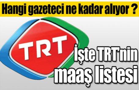İşte TRT'nin maaş listesi