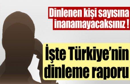 İşte Türkiye'nin dinleme raporu