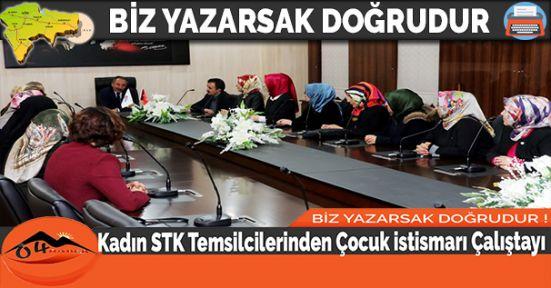 Kadın STK Temsilcilerinden Çocuk istismarı Çalıştayı