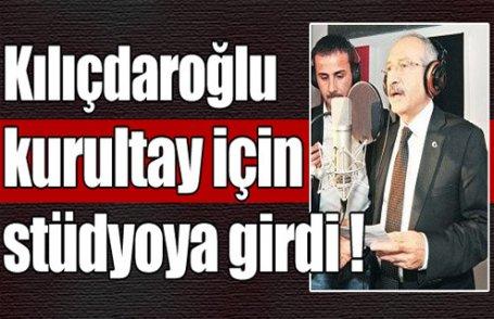 Kılıçdaroğlu stüdyoya girdi !