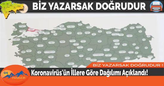 Koronavirüs'ün İllere Göre Dağılımı Açıklandı!