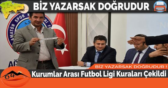 Kurumlar Arası Futbol Ligi Kuraları Çekildi