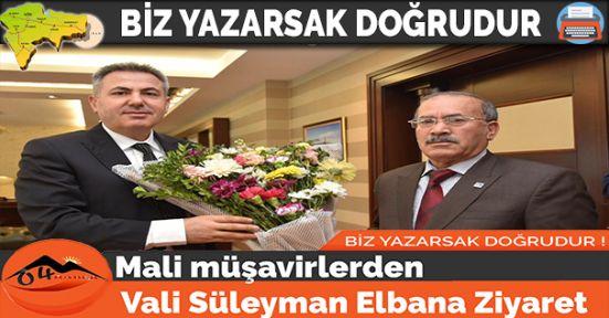 Mali müşavirlerden Vali Süleyman Elbana Ziyaret