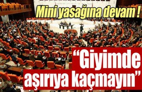 Meclis personeline mini uyarısı