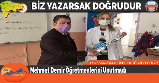 Mehmet Demir Öğretmenlerini Unutmadı