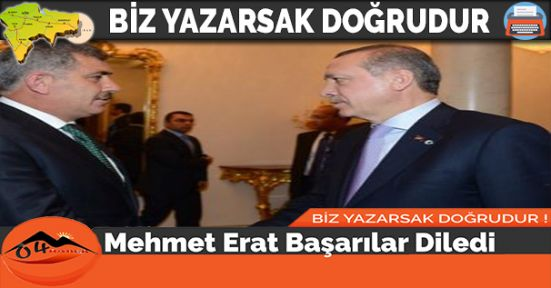 Mehmet Erat Başarılar Diledi