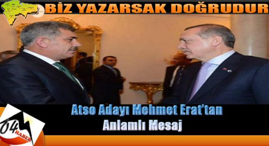 Mehmet Erat'tan Anlamlı Mesaj