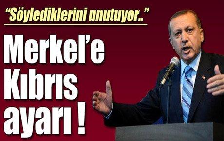 Merkel'e Kıbrıs ayarı