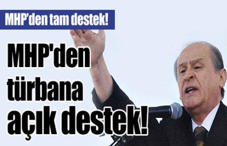 MHP'den türbana tam destek!