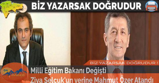 Milli Eğitim Bakanı Değişti Ziya Selçuk'un yerine Mahmut Özer Atandı