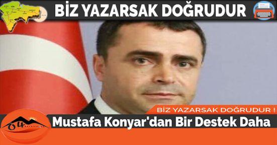 Mustafa Konyar'dan Bir Destek Daha