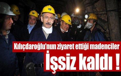 O madenciler işsiz kaldı !
