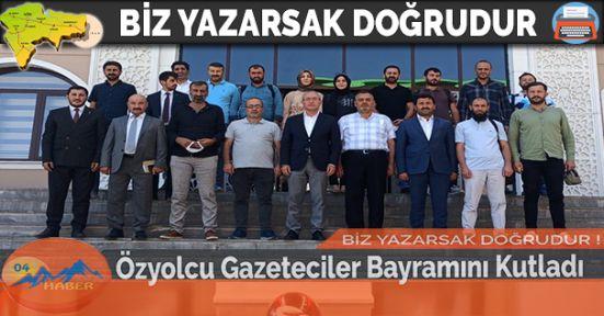 Özyolcu Gazeteciler Bayramını Kutladı