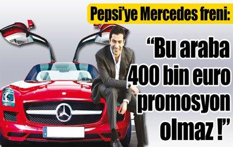 Pepsi'ye Mercedes freni