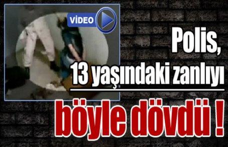 Polis dehşeti kamerada ! (Video)