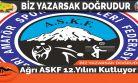 Ağrı ASKF 12.Yılını Kutluyor