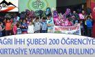 AĞRI İHH'DAN 200 YETİM ÖĞRENCİYE KIRTASİYE YARDIMI