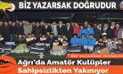 Ağrı'da Amatör Kulüpler Sahipsizlikten Yakınıyor