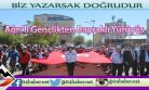 Ağrı'da Gençler Bayrakla Yürüdü