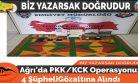 Ağrı'da PKK/KCK Operasyonu: 4 Şüpheli Gözaltına Alındı