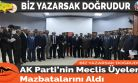 AK Parti'nin Meclis Üyeleri Mazbatalarını Aldı