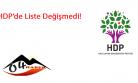 HDP'de Liste Değişmedi