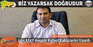 Ağrı ASKF Amatör Futbol Kulüplerini