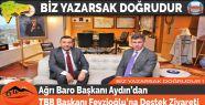 Ağrı Baro Başkanı Aydın'dan TBB Başkanı