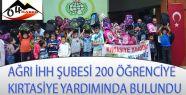 AĞRI İHH'DAN 200 YETİM ÖĞRENCİYE