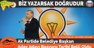 Ak Partide Belediye Başkan Aday Adayı