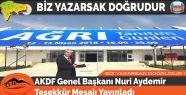 AKDF Genel Başkanı Nuri Aydemir Teşekkür