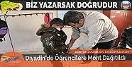 Diyadin'de Öğrencilere Mont Dağıtıldı