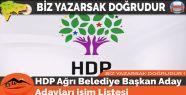 HDP Ağrı Belediye Başkan Aday...