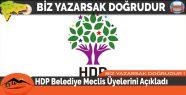 HDP Belediye Meclis Üyelerini Açıkladı