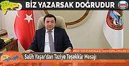 Salih Yaşar'dan Taziye Teşekkür Mesajı