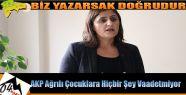 Taşdemir ;AKP çocukları halkın bir unsuru