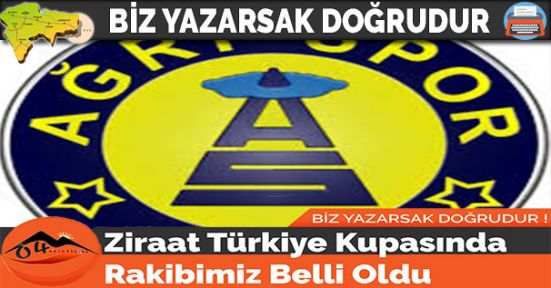 Ziraat Türkiye Kupasında Rakibimiz Belli Oldu